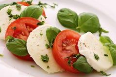 De Mozarella van de tomaat Royalty-vrije Stock Afbeelding