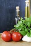 De Mozarella van de tomaat Royalty-vrije Stock Foto's