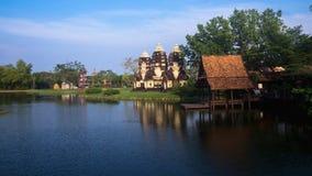 ` De Muangboran de ville antique ou de ` dans la langue thaïlandaise à la province de Samutprakan, Thaïlande Photos stock