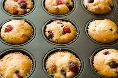 De muffin van de aardbei Royalty-vrije Stock Foto's