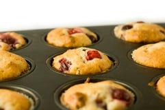 De muffin van de aardbei Stock Afbeeldingen