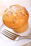 De muffin van de amandel Stock Foto