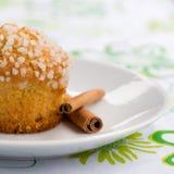 De muffin van de appel Stock Foto's