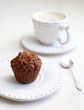 De muffin van de chocolade Royalty-vrije Stock Afbeeldingen