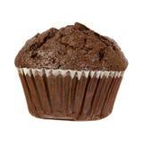 De Muffin van de chocolade die op een Witte Achtergrond wordt geïsoleerd? Royalty-vrije Stock Afbeeldingen