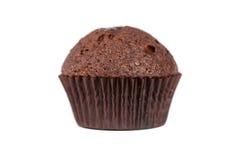 De muffin van de chocolade die op wit wordt geïsoleerd Stock Foto