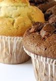 De muffin van de chocolade en van de bosbes Royalty-vrije Stock Foto