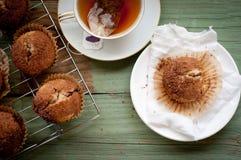 De Muffin van de vanillekaneel Royalty-vrije Stock Foto's