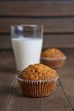 De muffin van de wortelcake Stock Foto