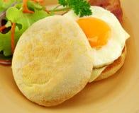 De Muffin van het ei en van het Bacon stock afbeeldingen