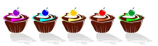 De muffin van september die met suikerglazuur wordt verfraaid Royalty-vrije Stock Fotografie