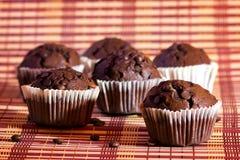 De muffins met chocolade Stock Foto