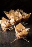 De muffins Selectieve nadruk van de chocoladebanaan Royalty-vrije Stock Afbeelding