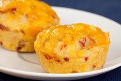 De muffins van Cornbread royalty-vrije stock foto