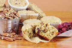 De Muffins van de Amerikaanse veenbes van het havermeel Royalty-vrije Stock Foto