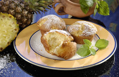 De muffins van de ananas royalty-vrije stock foto