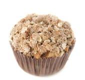 De muffins van de appel met geïsoleerdeu shtreyzel Stock Afbeeldingen