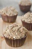 De muffins van de appel met shtreyzel Royalty-vrije Stock Fotografie