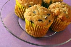 De Muffins van de bosbes Stock Afbeelding
