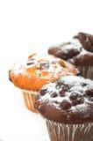 De Muffins van de chocolade Stock Afbeeldingen