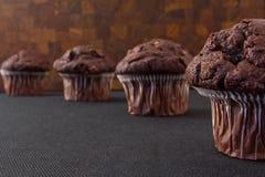 De muffins van de chocolade Royalty-vrije Stock Foto's