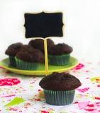 De muffins van de chocolade stock fotografie