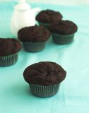 De muffins van de chocolade stock afbeelding