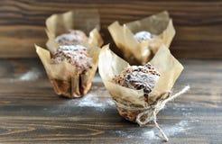 De muffins van de chocolade Royalty-vrije Stock Afbeeldingen