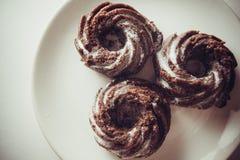 De muffins van de chocolade Stock Foto
