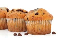 De Muffins van de Chocoladeschilfer Stock Afbeelding