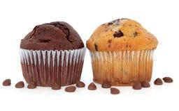 De Muffins van de Chocoladeschilfer stock foto