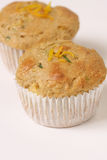De Muffins van de courgette Stock Foto's
