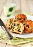 De Muffins van de kaas en van de Paddestoel Royalty-vrije Stock Foto
