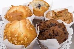 De muffins van de koffiebar Stock Foto
