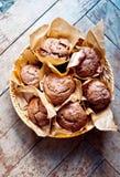 De muffins van de MuffinsDeliciouschocolade Stock Fotografie