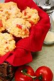De Muffins van de pizza stock foto's