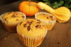 De muffins van de pompoen Stock Foto