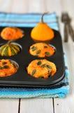 De Muffins van de pompoen en van de Kaas Royalty-vrije Stock Afbeelding