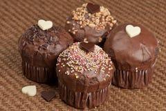 De muffins van de valentijnskaart Royalty-vrije Stock Afbeeldingen