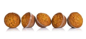 De muffins van de wortelcake Stock Afbeeldingen