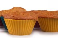 De muffins van de wortelcake Stock Foto's