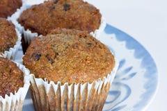 De muffins van het fruit en van de vezel royalty-vrije stock afbeelding