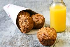 De muffins van het havermeel Stock Afbeelding