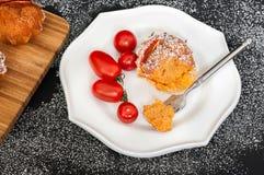 De Muffins van het tomatenkruid Stock Fotografie