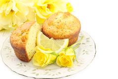 De Muffins van het Zaad van de Papaver van de citroen Stock Foto