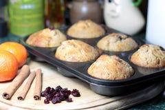 De muffins van Kerstmis stock foto
