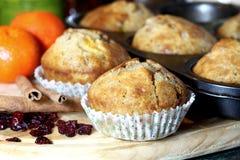 De muffins van Kerstmis royalty-vrije stock foto