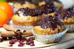 De muffins van Kerstmis stock afbeeldingen