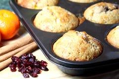De muffins van Kerstmis stock foto's