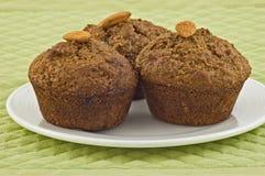 De muffins van zemelen Stock Foto
